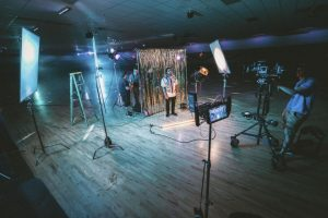 a video production company nottingham set for filming promotional video